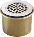 7721.038.002 D-w-o Chrome Grid Strainer 3 1/2 In Outlet Ips Connec