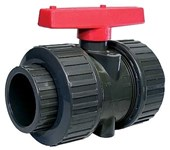 2 Compt Pvc Union Ball Valve P200u CAT222,P200UK,UBV,UBVK,061191801012,