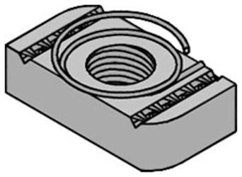 2400205403 Astg 3/8 In Anvil-strut Eg Steel Top Grip Nut CAT755A,69029123830,SN38,SNC,ASTG,