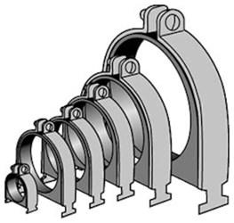 As050od 3-1/8 In Electrogalvanized Carbon Steel Strut Cushion Clamp CAT755A,2400223653,69029135606,PS1400,PS1400318,C318,MFGR VENDOR: ANVIL,PRCH VENDOR: ANVIL,C318,