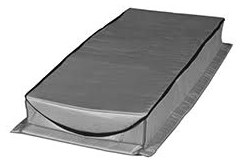 At-2 54 X 25 X 7 Nylon Fabric/polyurethane Attic Tent CATTENT,AT2,30673689025544,