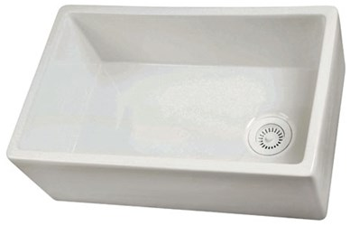 Fs30 29.75 In X 17.875 In X 10 In Barclay Products White Apron Front Sink CATBAR,FS30,28553065611,028553065611