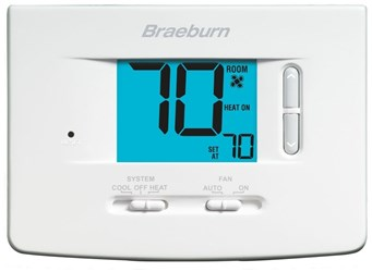 1020 Braeburn 1 Heat/1 Cool Heat Pump/conventional Non-programmable Thermostat CAT330B,1020,833732001782
