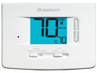 1220 Braeburn 2 Heat/2 Cool Heat Pump/conventional Non-programmable Thermostat CAT330B,1220,833732001805