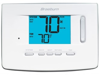 3220 Braeburn 3 Heat/2 Cool Heat Pump/conventional Non-programmable Thermostat CAT330B,3220,833732001843