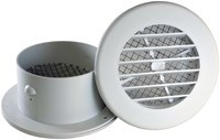 13055 Bramec Rotaire 4 Round White Snap-in Eave Vent CAT810,13055,13055,30504040,EVE,
