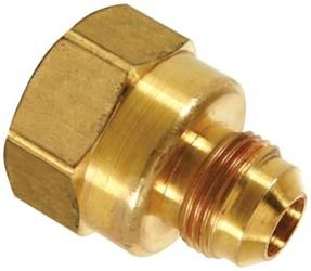 F10-6 3/8 Brass Half Union 45 Degree Flare X Female Threaded CAT331,293F,04960449,084832833296,F295-662,29SH,FFU3C,33106105,F106,F1066,33106105,20026613004796,026613004792
