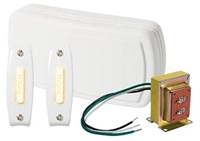 Bk125lwh Nutone White 2 Note Front Door/1 Note Second Door Door Chime CAT769,BK125LWH,BK125LWH,784891030062