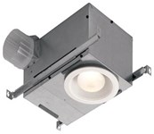 744 Recessed Fan/light. 70 Cfm, 1.5 Sones. 6 White Trim. Use 75w R30 Or Br30 Bulb For Standard Applications. For Tub/shower Applications, Requires A P CAT769,744,026715163014,26715163014