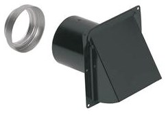 885bl Broan 6-1/2 X 5 X 6-1/2 Cold Rolled Steel Wall Cap For 3 And 4 Round Duct CAT769,885BL,784891276491