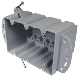 Ez74tn Ez Box 74 Cu In Rigid Pvc 3 Gang Nail-on Switch Box CAT730,EZ74TN,88700041912,PEEZ74