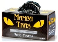 Mtx-50 Component Manufacturing Black Mamba Black Shoe Cover 25 Pair/box CATMISC,MSC,MTX-50,SHOES,SHOE COVERS,