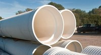 A-2000 Contech A-2000 10 In X 12-1/2 Ft Pvc Ribbed Pipe W/ Gasket CAT467U,A2000,A200010,A210,A10,