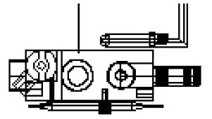 84085 Cozy Heating Natural Gas Gas Valve CAT322,MFGR VENDOR: COZY,PRCH VENDOR: COZY,