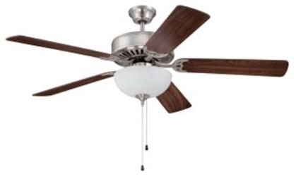 C201bnk Pro Builder 201 52 Ceiling Fan 4643 Cfm Brushed Polished Nickel ( Motor Only ) CAT719,C201BNK,647881119362