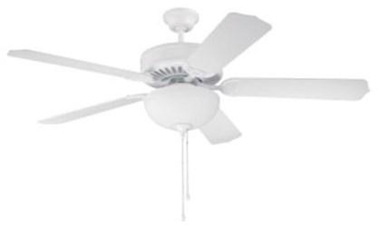 C201w Pro Builder 201 52 Ceiling Fan 4643 Cfm White ( Motor Only ) CAT719,C201W,647881119348