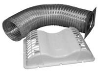 Evek4 4 White Aluminum Under Eve Vent Kit CAT305,EVEK4,0500829,079916500829