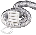 Sk5wf White Plastic Vent Kit With 5 Ft Aluminum Hose CAT305,SK5WF,50079916500121,MK45,RK5W,DVK,079916500126