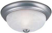 1257m-pw-al 2 Lt 13 X 5-1/4 Pewter/white Alabaster Glass Flush Mount CATDEF,DF1257MPWAL,046335838963