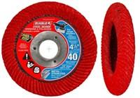 Dcc045040n01f Diablo Tools 4-1/2 40 Grit Flap Disc Type 29 CAT500D,008925094043