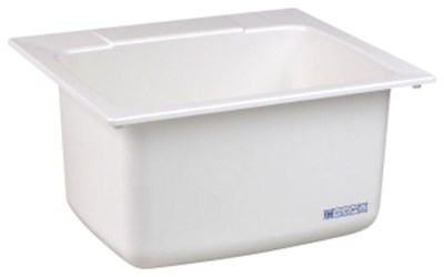 10c White 25 In X 22 In X 13-3/4 In Molded Fiberglass Countertop Laundry Sink CAT124,10C,671031003003,10CWHT,10CW,10CWH,#10C