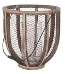 594028 Dimond Home Gray Iron And Fir Wood Atlas Hurricane Vase CATELG,MFGR VENDOR: ELK,PRCH VENDOR: ELK,818008011832