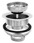 30001 Ez-flo 3-1/2 To 4 Polished Chrome Basket Strainer W/ Die Cast Nut CAT191,091712300014,ESS,SS100,SS-100,EBS,EBS,3001,30001,L7