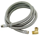 48364 Eastman 3/8 Braided Stainless Steel Dishwasher 60 Water Line CAT191,43864,EDWC,EDW,BCDWS,091712483649