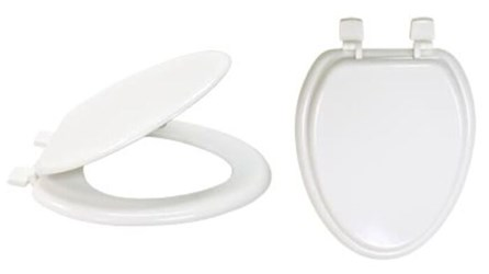 65907 Eastman White Wood Elongated Closed Front With Lid Toilet Seat CAT191,EWS,65907,EES,091712659075