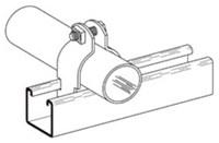 B2014 Cooper B-line 2-1/2 In Zinc Plated Pipe/conduit Clamp