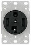1257-sp Eaton Power/single Flush Locking 125/250 Volts Black Glass Reinforced Nylon Electrical Receptacle CAT752C,1257-SP,032664306808,1257SP