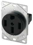 1258-sp Eaton Power/single Flush Straight Blade 125/250 Volts Black Glass Reinforced Nylon Electrical Receptacle CAT752C,1258-SP,032664306907,1258SP
