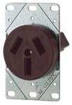 32b-box Eaton Power Flush Straight Blade 125/250 Volts Brown Glass Reinforced Nylon Electrical Receptacle CAT752C,32B-BOX,032664198403
