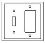 Pj126la Cooper Light Almond 2 Gang 1-toggle Switch/1-decorator Mid Size Wall Plate CAT752C,PJ126LA,032664578960,032664751066
