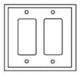 Pj262v Cooper Ivory 2 Gang 2-decorator/gfci Mid Size Wall Plate CAT752C,PJ262V,032664579677,032664751110