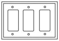 Pj263w Cooper White 3 Gang 3-decorator/gfci Mid Size Wall Plate CAT752C,PJ263W,032664579745,032664751400