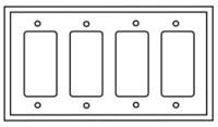 Pj264v Cooper Ivory 4 Gang 4-decorator/gfci Mid Size Wall Plate CAT752C,PJ264V,032664579790