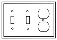 Pj28v Cooper Ivory 3 Gang 2-toggle Switch/1-duplex Receptacle Mid Size Wall Plate