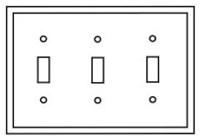 Pj3la Cooper Light Almond 3 Gang 3-toggle Switch Mid Size Wall Plate CAT752C,PJ3LA,032664580239,032664751141