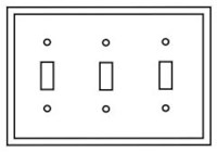 Pj3v Cooper Ivory 3 Gang 3-toggle Switch Mid Size Wall Plate CAT752C,PJ3V,032664580284,032664751493