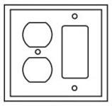 Pj826la Cooper Light Almond 2 Gang 1-duplex Receptacle/1-decorator Mid Size Wall Plate