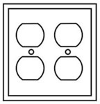 Pj82la Cooper Light Almond 2 Gang 2-duplex Receptacle Mid Size Wall Plate CAT752C,PJ82LA,032664580710,032664751233