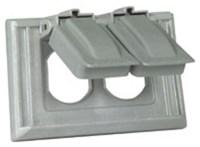 S1952 Cooper Gray Plastic 1 Gang Horizontal Switch Cover CAT752C,S1952,032664126109