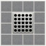 E4410 4 Inch Grate/satin Nickel Drain CATEBBE,E4410,EBD,EBBEE,