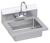 Ehs-18x Elkay 18 Gauge Economy Hand Sink Wall Mount With Faucet And Strainer CAT140SC,EHS-18X,94902733364,HS2,EHS18X,094902733364