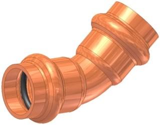 1 Elkhart Copper 45 Elbow P X P CAT539XP,10075064,683264750647,X45G