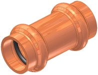 1/2 Elkhart Copper Short Coupling P X P CAT539XP,10075513,683264755130,XRCD