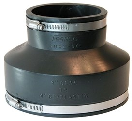1002-64 Fernco 6 X 4 Pvc Ssclamp Coupling F/6 Clay To 4 Ci/pvc CAT431,100264,1002-64,10016846142146,100264S,FC64,018578015289,016846142149