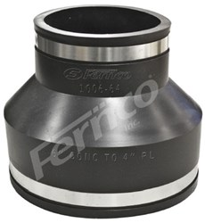 1006-64 Fernco 6 X 4 Pvc Ss Clamp Coupling F/6 Conc To 4 Ci/pvc CAT431,100664,1006-64,FC64,018578015357,016846144129