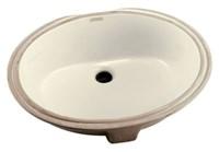 G001278009 Gerber Luxoval Biscuit No Hole Under Counter Bathroom Sink CAT132,G001278009,671052028108,1278009,1278009,1278009,1278009,1278009,671052028108,12780,GER1278009